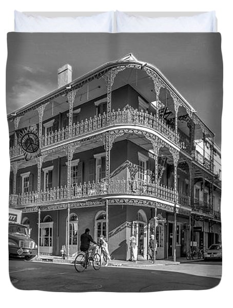 French Quarter Afternoon Bw Duvet Cover by Steve Harrington