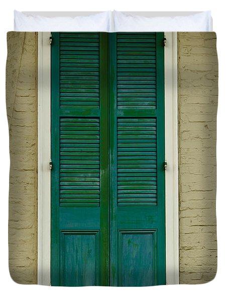 French Quarter Door - 15 Duvet Cover by Susie Hoffpauir