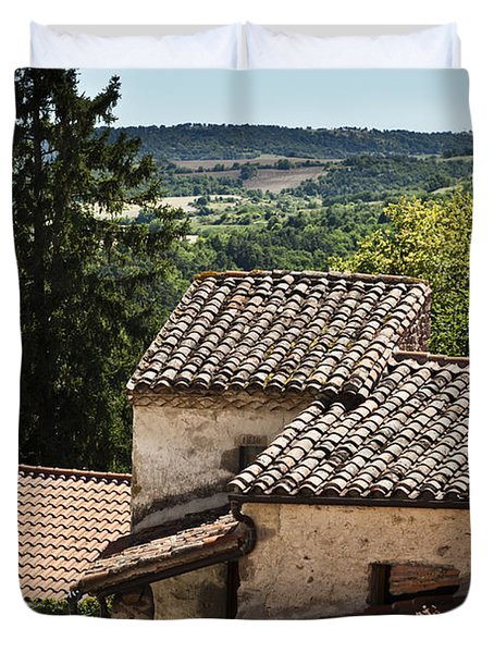 French Roofs Duvet Cover by Georgia Fowler