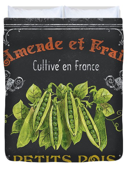 French Vegetables 2 Duvet Cover by Debbie DeWitt