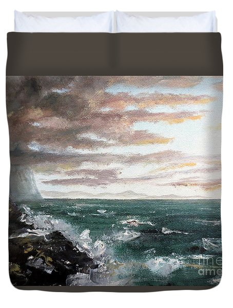 Frenchman's Bay Duvet Cover by Lee Piper