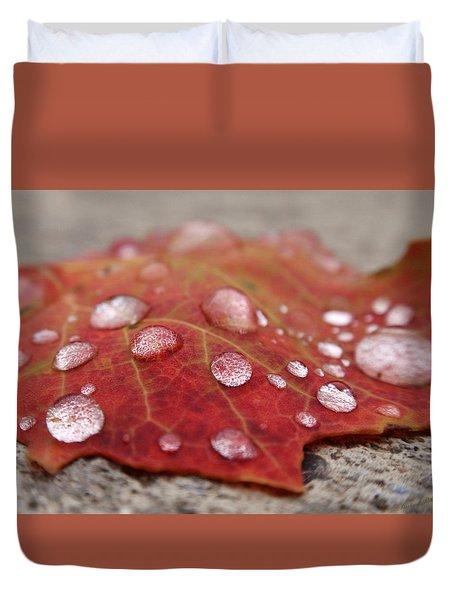 Fresh Drops Duvet Cover by Christina Rollo