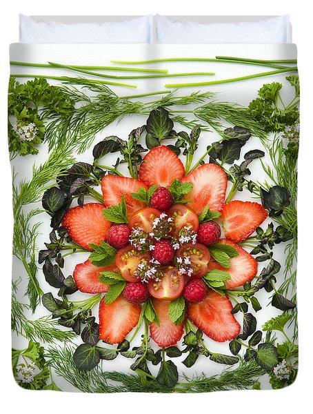 Fresh Fruit Salad Duvet Cover by Anne Gilbert