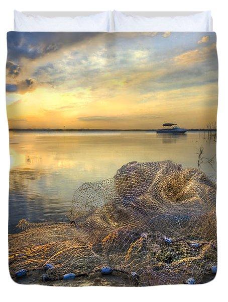 Fresh Water Duvet Cover by Debra and Dave Vanderlaan