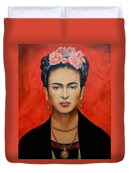 Frida Kahlo Duvet Cover by Elena Day