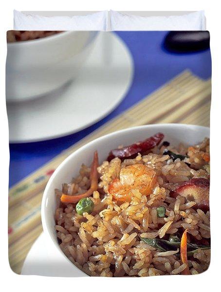 Fried Rice Duvet Cover by Tim Hester
