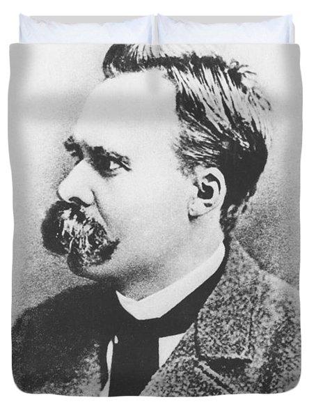 Friedrich Wilhelm Nietzsche In 1883 Duvet Cover by German Photographer