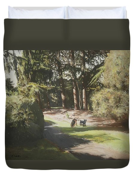 Friends Fur Ever Duvet Cover by Cherise Foster