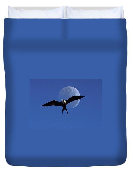 Frigatebird Moon Duvet Cover by Jerry McElroy
