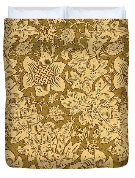 Fritillary Wallpaper Design Duvet Cover by William Morris