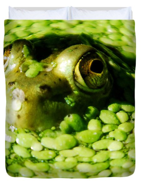 Frog eye's Duvet Cover by Optical Playground By MP Ray
