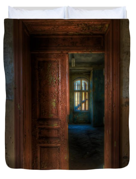 From A Door To A Window Duvet Cover by Nathan Wright