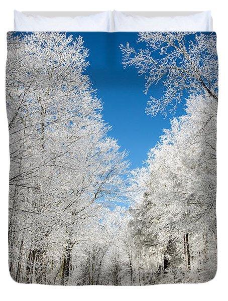 Frosted Winter Duvet Cover by John Haldane