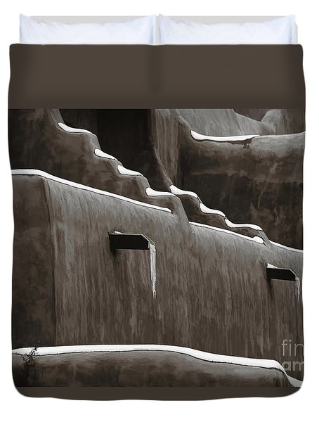 Frosting On The Clay Duvet Cover by Jon Burch Photography