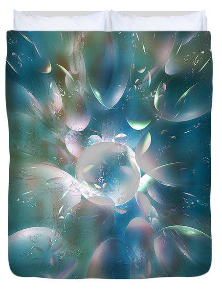 Frostwork Duvet Cover by Klara Acel