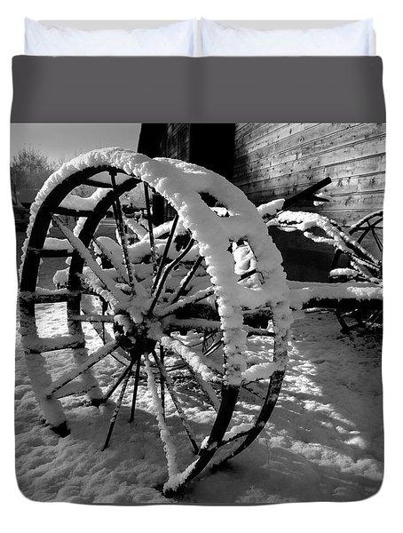 Frozen In Time Duvet Cover by Steven Milner