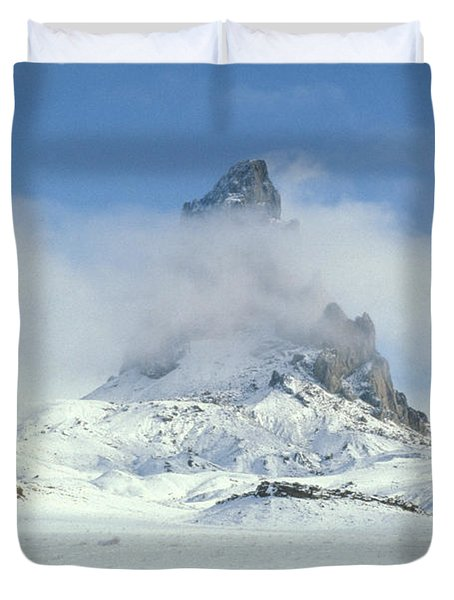 Frozen Peak 1001 Duvet Cover by Brent L Ander