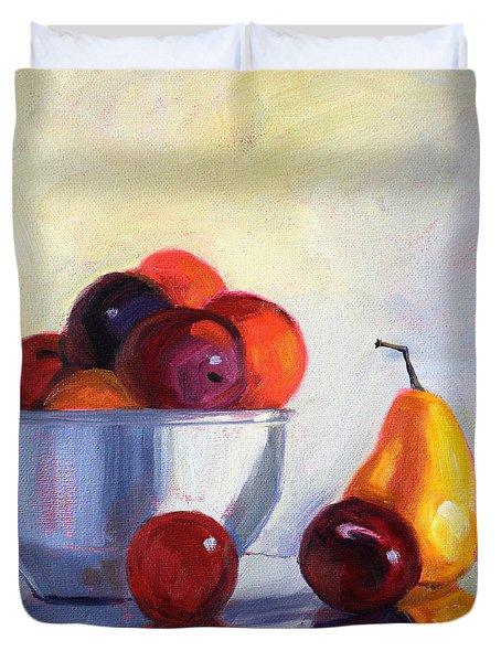 Fruit Bowl Duvet Cover by Nancy Merkle
