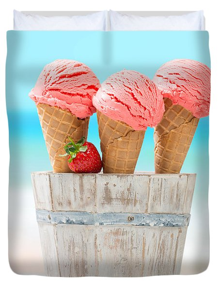Fruit Ice Cream Duvet Cover by Amanda Elwell