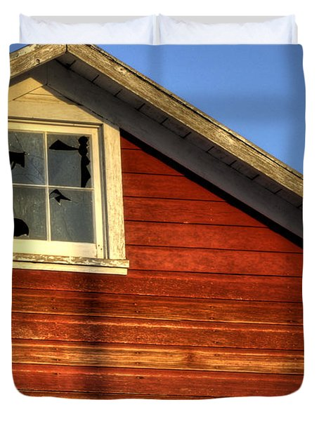 Ft Collins Barn Sunset 2 13508 Duvet Cover by Jerry Sodorff