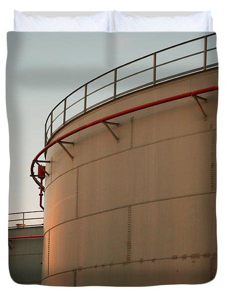 Fuel Tanks Duvet Cover by Gaspar Avila