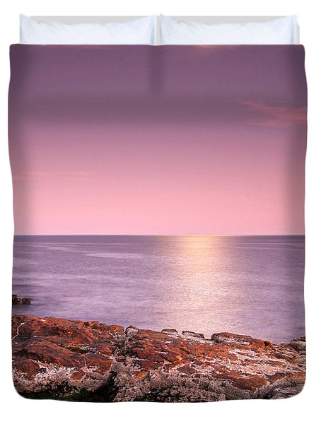 Full Moon Reflection Duvet Cover by Juergen Roth