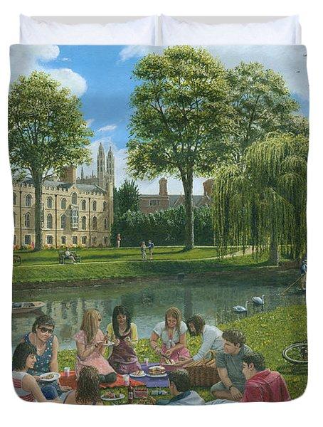 Fun On The River Cam Cambridge Duvet Cover by Richard Harpum