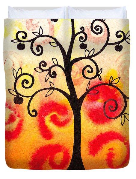 Fun Tree Of Life Impression Iv Duvet Cover by Irina Sztukowski