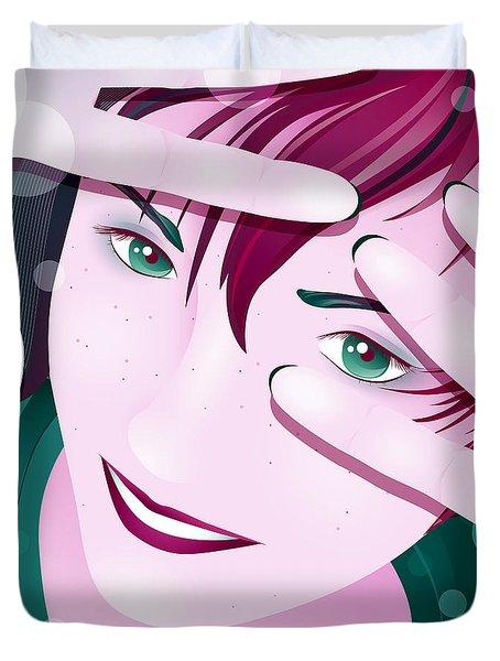 Funny Duvet Cover by Sandra Hoefer