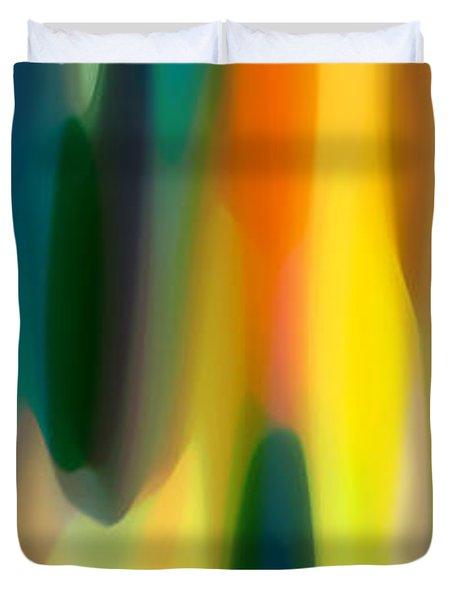 Fury Panoramic Vertical 1 Duvet Cover by Amy Vangsgard