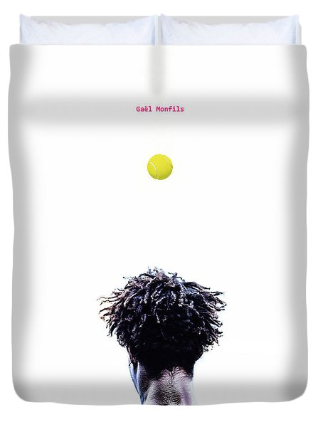 Gael Monfils Duvet Cover by Nishanth Gopinathan