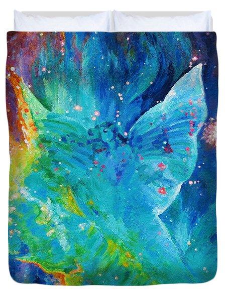 Galactic Angel Duvet Cover by Julie Turner