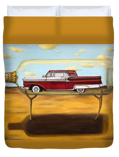 Galaxie In A Bottle Duvet Cover by Leah Saulnier The Painting Maniac