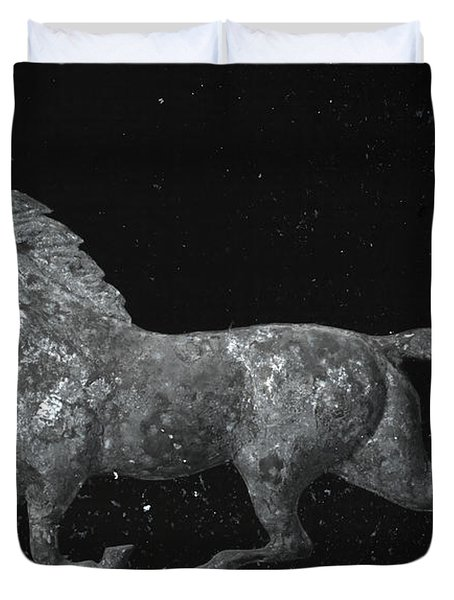 Galloping Through The Universe Duvet Cover by John Stephens