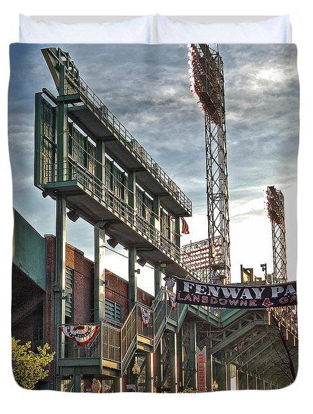 Game Day - Fenway Park Duvet Cover by Joann Vitali