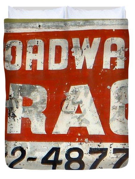 Garage Grunge Duvet Cover by Dorothy Menera