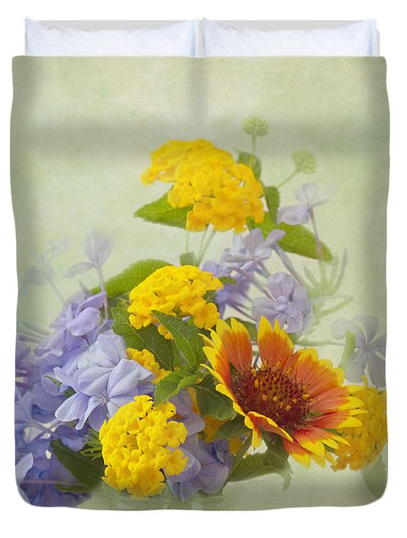 Garden Bouquet Duvet Cover by Kim Hojnacki