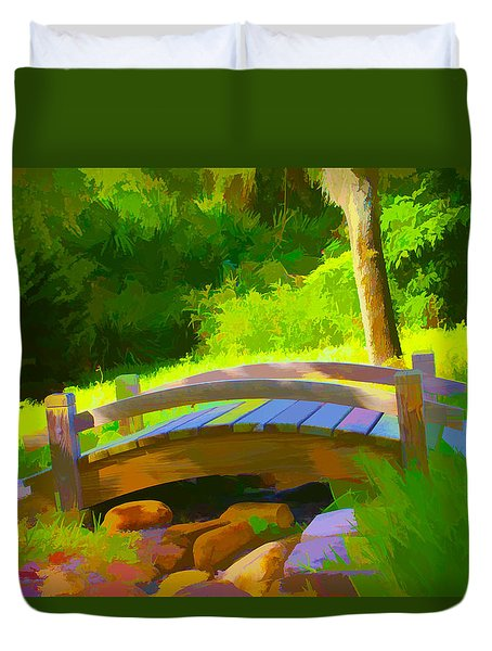 Garden Bridge Duvet Cover by Gerry Robins