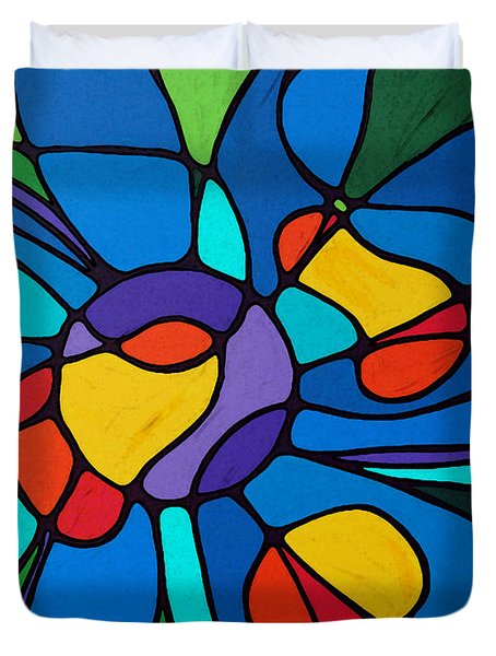 Garden Goddess - Abstract Flower by Sharon Cummings Duvet Cover by Sharon Cummings