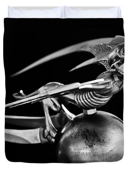 Gargoyle Hood Ornament 2 Duvet Cover by Jill Reger