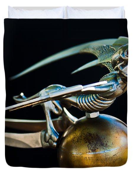 Gargoyle Hood Ornament Duvet Cover by Jill Reger