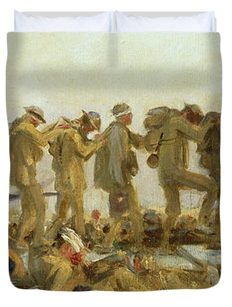 Gassed    An Oil Study Duvet Cover by John Singer Sargent