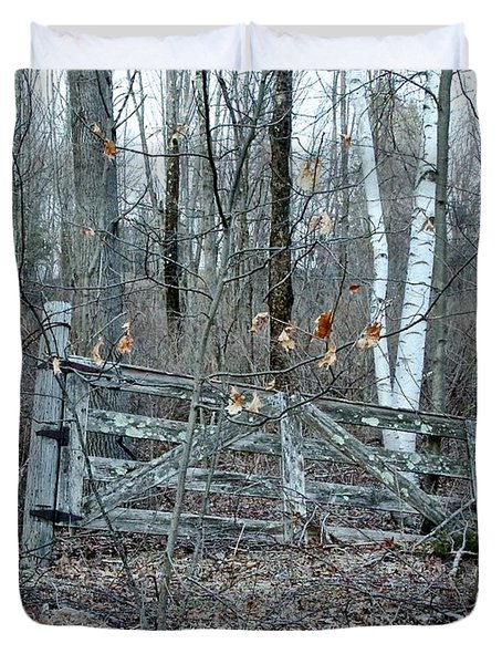 Gate and Birches Duvet Cover by Randi Shenkman