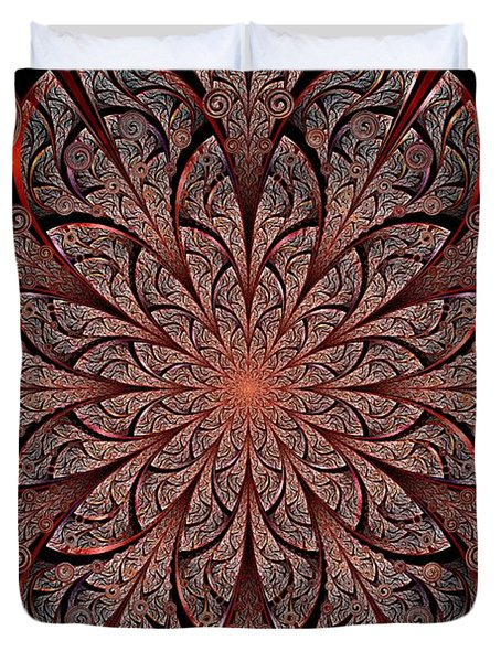 Gates Of Fire Duvet Cover by Anastasiya Malakhova