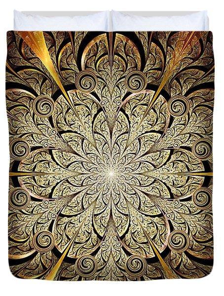 Gates Of Light Duvet Cover by Anastasiya Malakhova