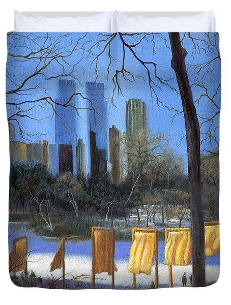 Gates of New York Duvet Cover by Marlene Book