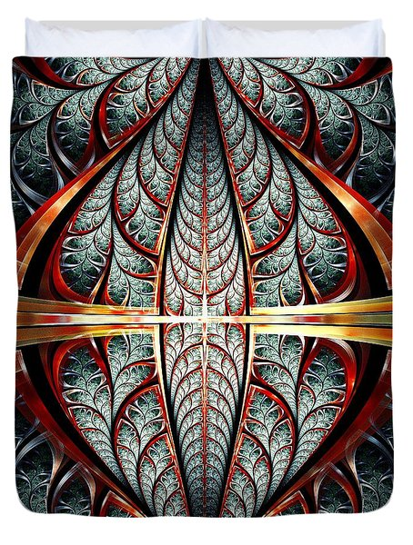 Gates Of Night Duvet Cover by Anastasiya Malakhova
