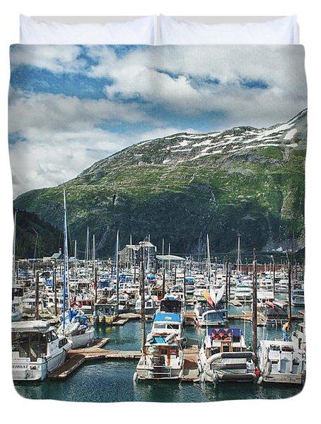 Gateway To Prince William Sound Alaska Duvet Cover by Kim Hojnacki