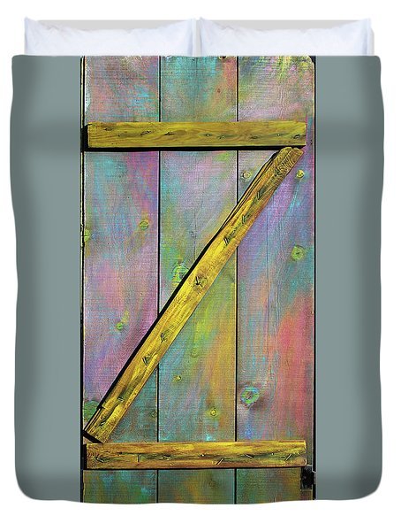 Gateway To Z Universe Duvet Cover by Asha Carolyn Young