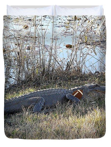 Gator Football Duvet Cover by Al Powell Photography USA